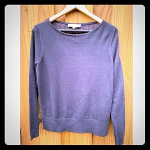 LOFT blue sweater with back with pattern size S